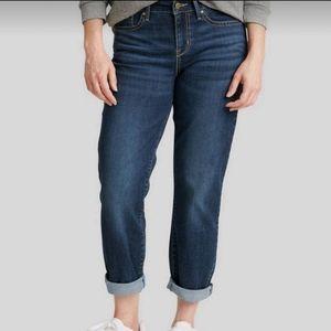 Chico's Platinum Roll Up Jeans Crop Quartz 1.5 10